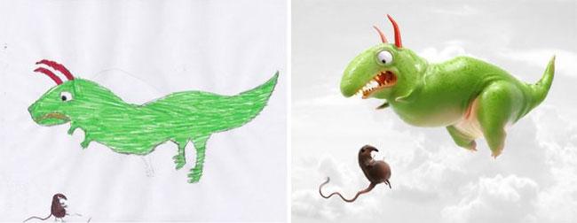 Проект «Монстры»: художники создают фантастические миры по мотивам детских рисунков
