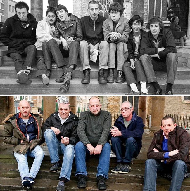 30 years on: the photographer has recreated the old portraits, done in his home town