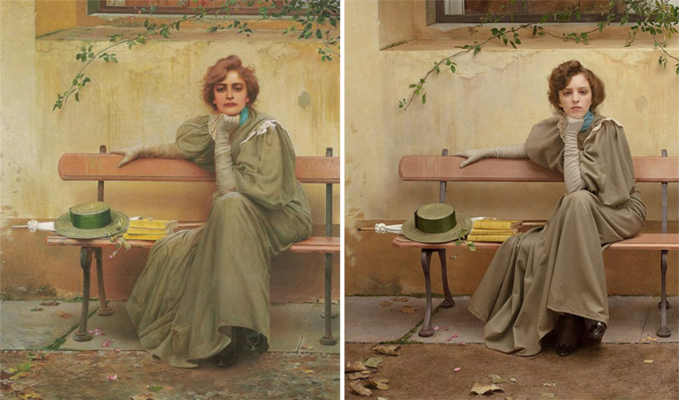 Классика живописи, воссозданная с помощью фотографии