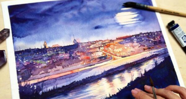 Светящиеся акварельные картины от российской художницы