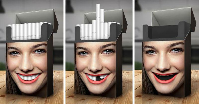 Язык курильщика и здорового
