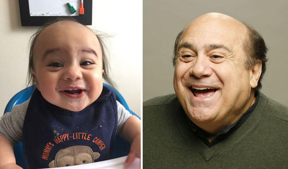 Малыши, неожиданно похожие на известных людей фото