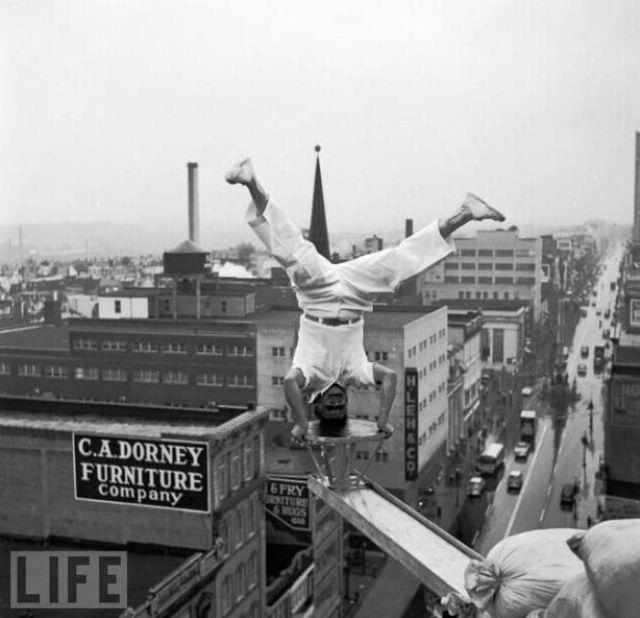 Безумные трюки в ретрофотографиях