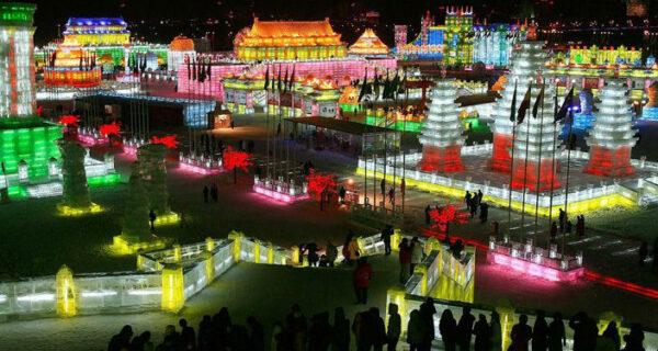 Королевство льда и снега на Харбинском фестивале вКитае