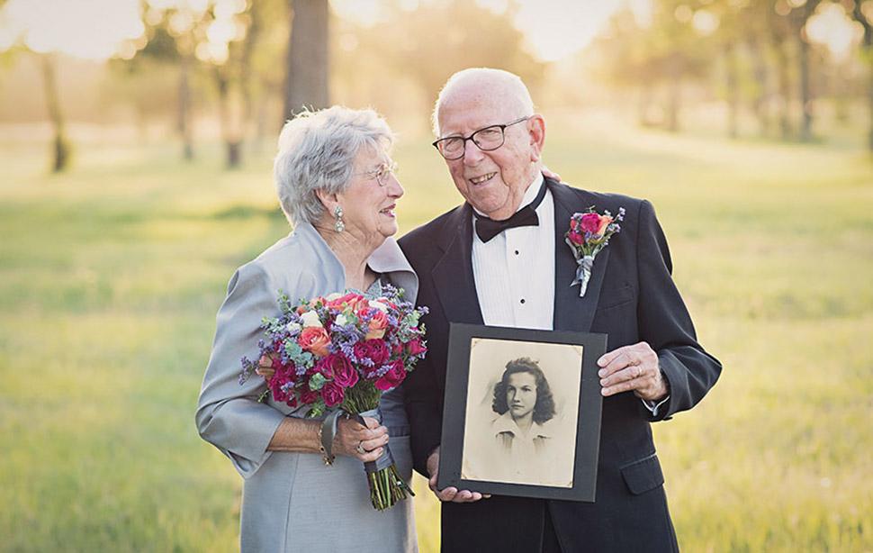 Свадебная фотосессия, которую ждали 70 лет