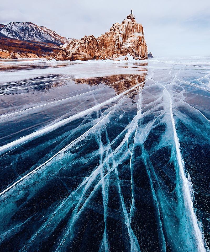 быстрый рецепт фото озера байкал зимой столб дыма заметен