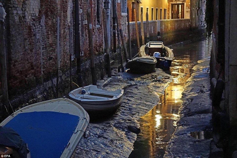 Куда делась вода из каналов в Венеции