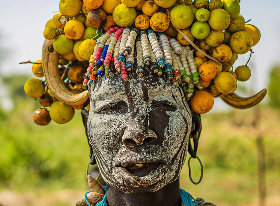 Причудливая красота женщин эфиопских племен