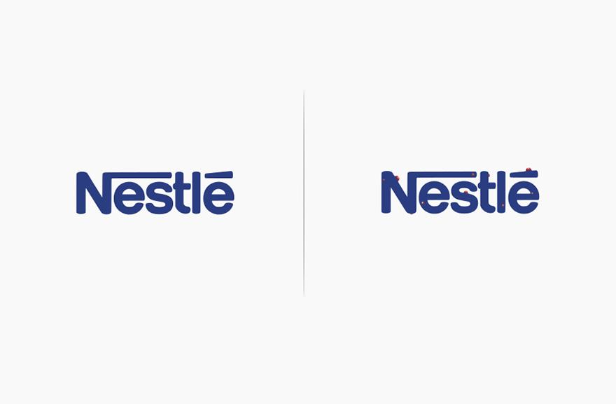 logos affected by their products funny rebranding marco schembri 12  880 - Как бы выглядели логотипы брендов, если бы они соответствовали своей продукции