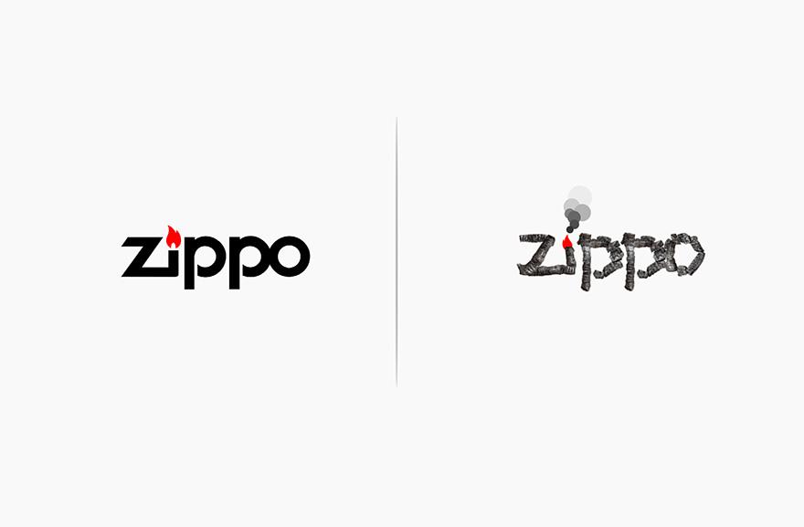 logos affected by their products funny rebranding marco schembri 18  880 - Как бы выглядели логотипы брендов, если бы они соответствовали своей продукции