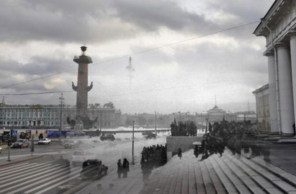 Сквозь ткань времени: освобождение блокадного Ленинграда в 1944 году на улицах современного Санкт-Петербурга