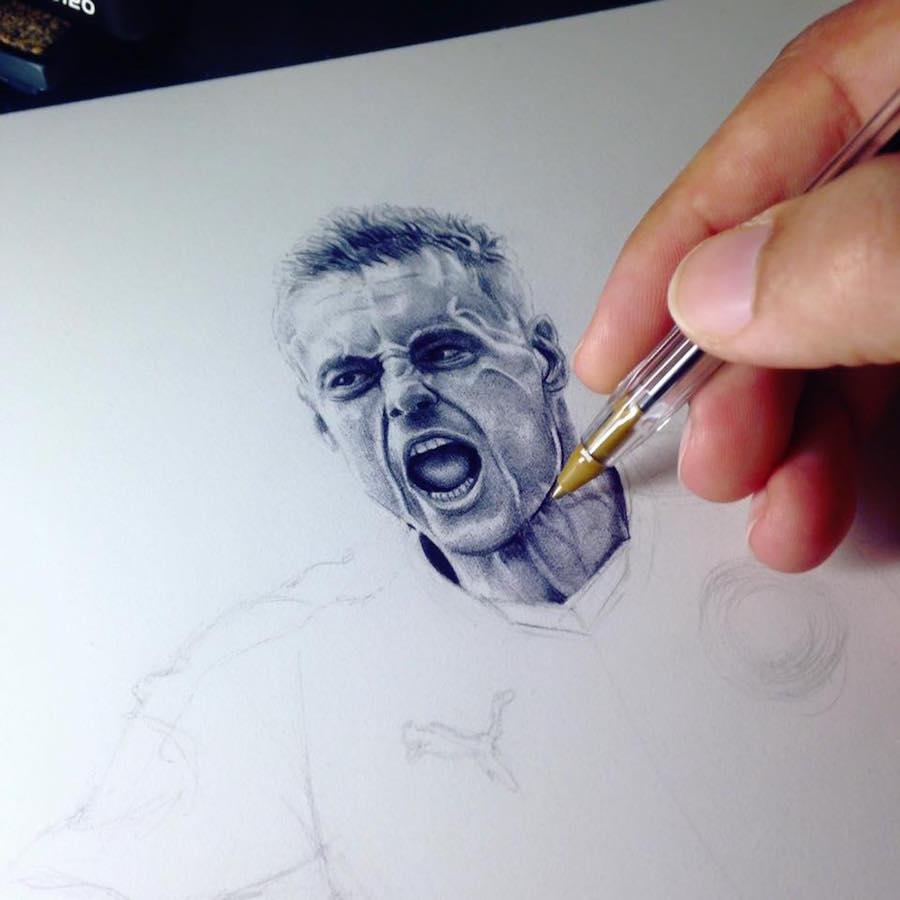 Художники рисующие шариковыми ручками