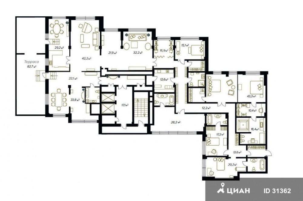 Ремонт квартир современный 30 м