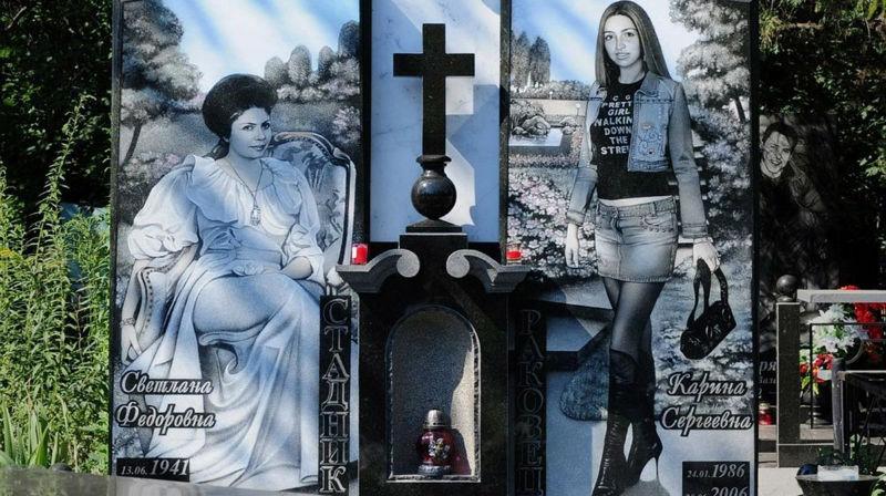 Роскошные надгробия бандитского кладбища под Екатеринбургом фото