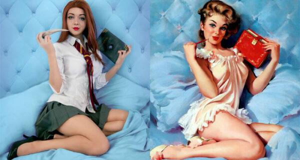 Волшебный косплей: героини «Гарри Поттера» позируют в стиле пин-ап