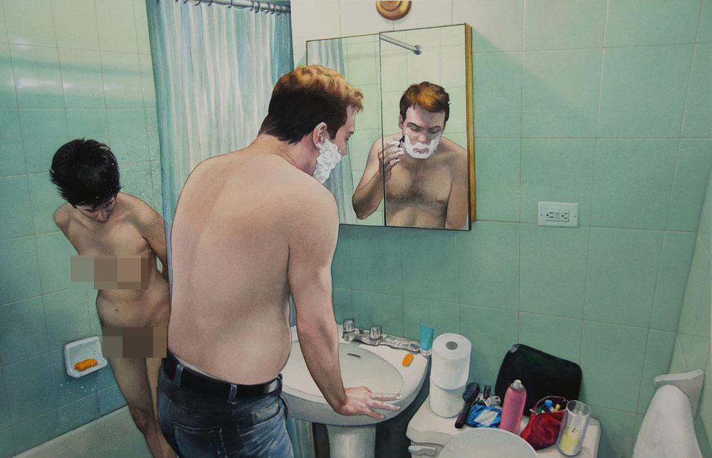 Грязная любовь: художник-гиперреалист исследует интимные отношения в домашней обстановке