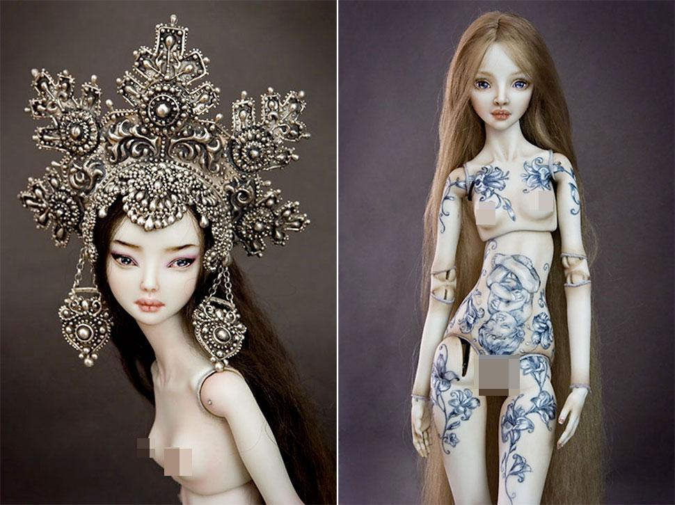 Заколдованные и пугающе эротичные куклы Марины Бычковой