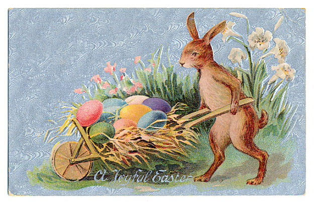 Открытки днем, открытка гдр зайцы пасха красят яйца 1952 год