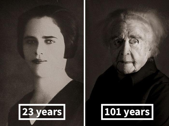 «Лица века»: столетние долгожители вмолодости исейчас