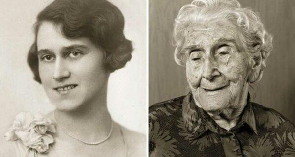 «Лица века»: столетние долгожители в молодости и сейчас