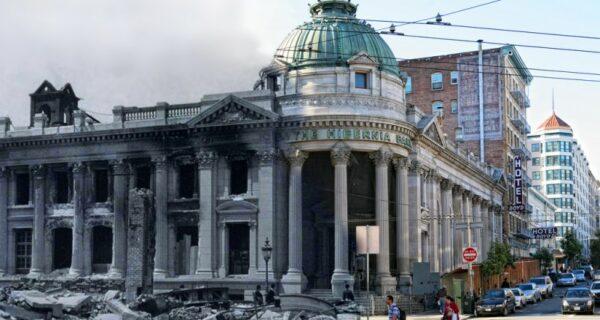 Сан-Франциско после разрушительного землетрясения 1906 года и сегодня