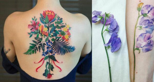8 тату-мастеров, которые делают цветы бессмертными