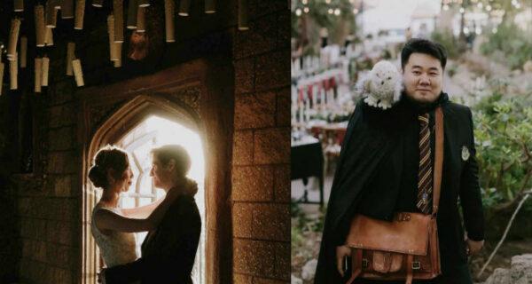 Свадьба в стиле «Гарри Поттера»: совы, замок и волшебные палочки