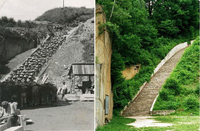 «Лестница мертвецов» в австрийском концлагере Маутхаузен фото