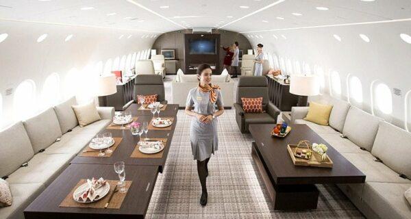 Летающий пентхаус: на борту лайнера, аренда которого обойдется в 25 тысяч долларов вчас