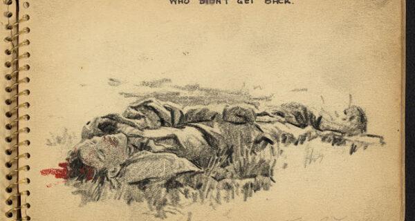 Вторая мировая война в рисунках 21-летнего солдата, сделанных в 1944году