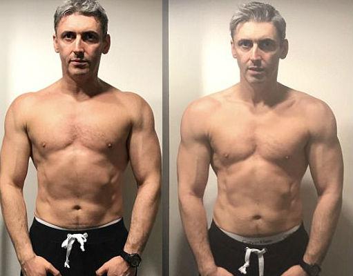45-летний отец троих детей с пивным животиком за 12 недель превратился в бога фитнеса