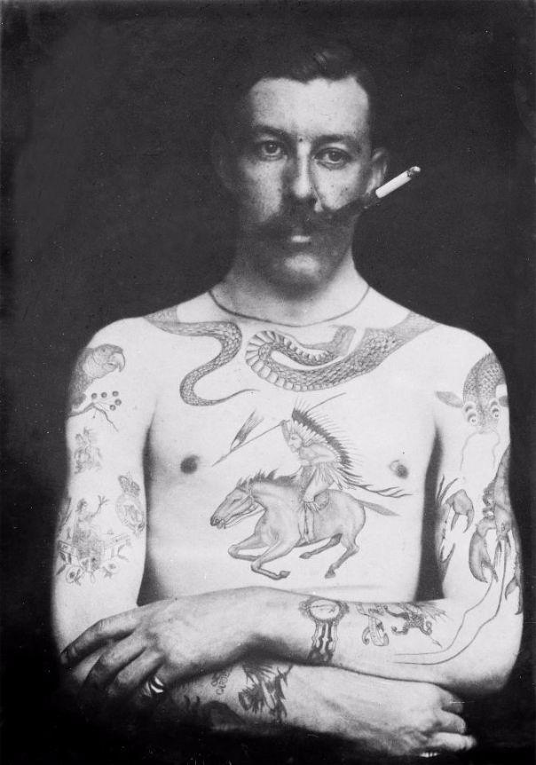 Роскошные татуировки Викторианской эпохи: херувимы, драконы и гербы История