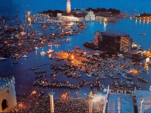 Концерт Pink Floyd на площади Сан-Марко в Венеции в Июле 1989 года