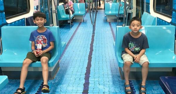 В Тайбэе вагоны метро превратили в спортивные площадки