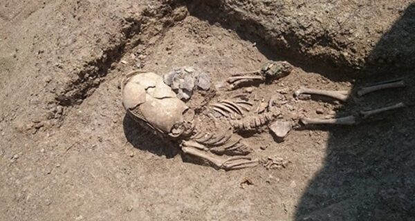 В Крыму нашли скелет младенца II века с вытянутым черепом
