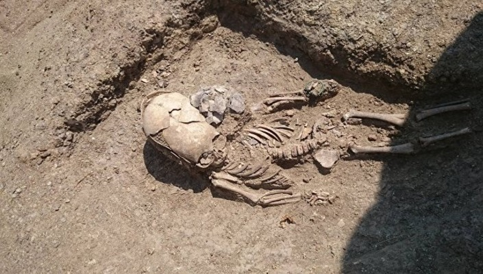 zag13 - В Крыму нашли скелет младенца II века с вытянутым черепом