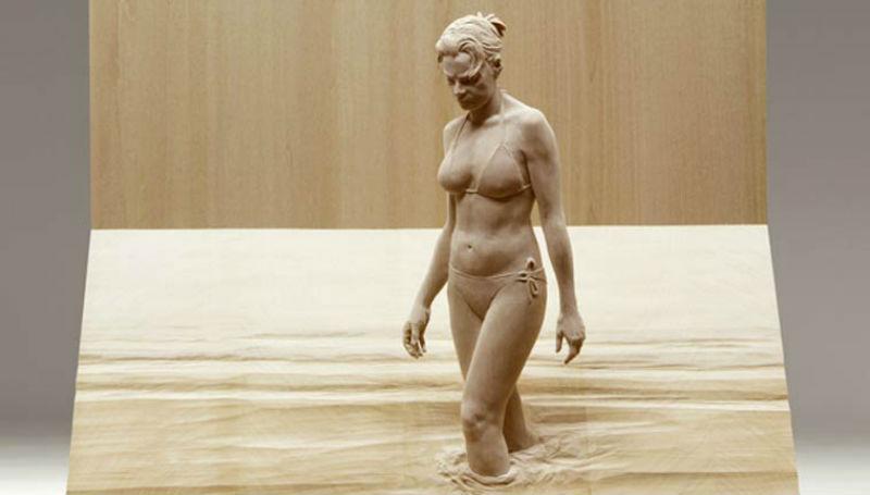 Буратино и не снилось: невероятно реалистичные деревянные скульптуры людей фото