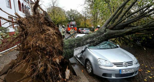 Пронесшийся по Европе ураган «Герварт» унес жизни шести человек