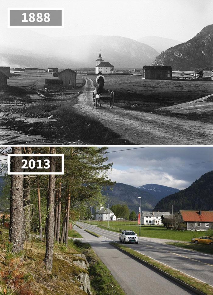 Как изменился мир за 100 лет: фотографии до и после Как изменился мир за 100 лет: фотографии до и после 1182