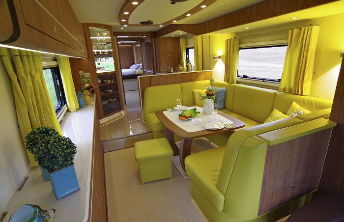 House on wheels with a built-in garage almost for 100 million rubles