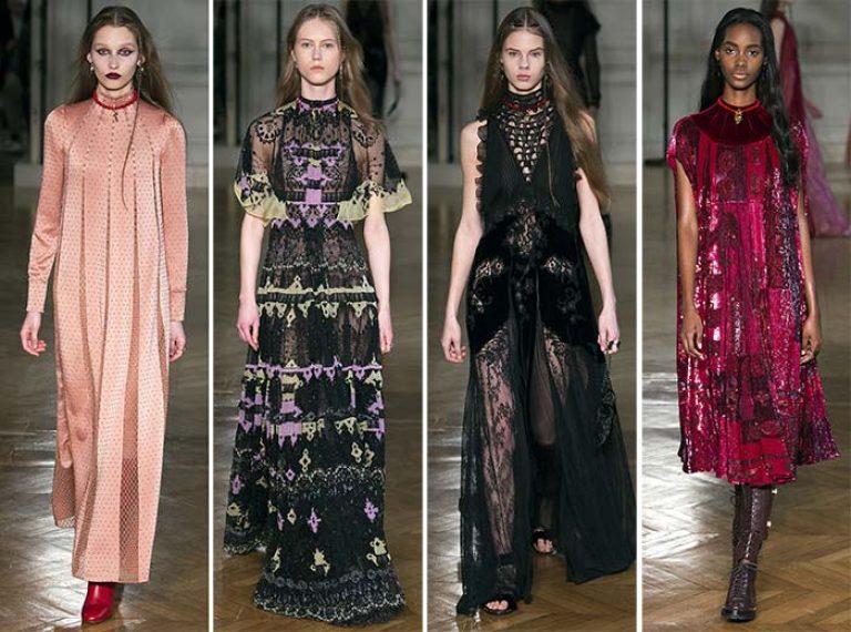 Платья из коллекции Valentino осень-зима 2017/2018