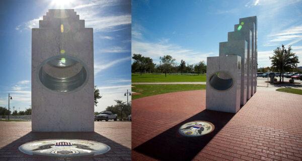 Уникальный памятник ветеранам, красота которого открывается раз в год — 11 ноября в 11:11утра
