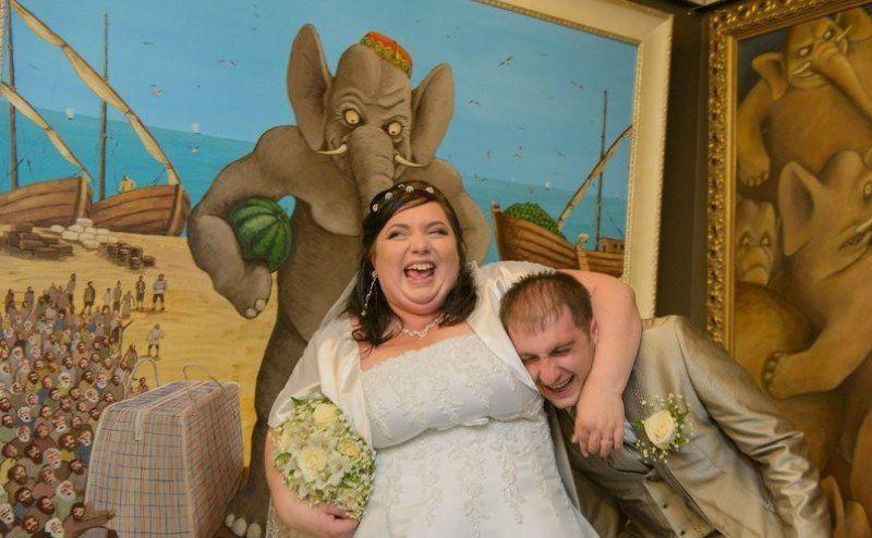 Дичайший треш во мгле кутежа: «самые лучшие» свадебные фото из России фото