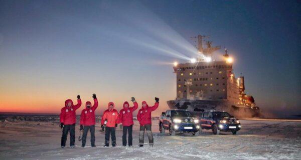 Установить рекорды и потрогать атомный ледокол: российская экспедиция покорила Арктику