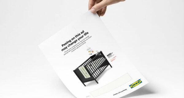 IKEA предложила беременным женщинам помочиться на рекламу ради скидки