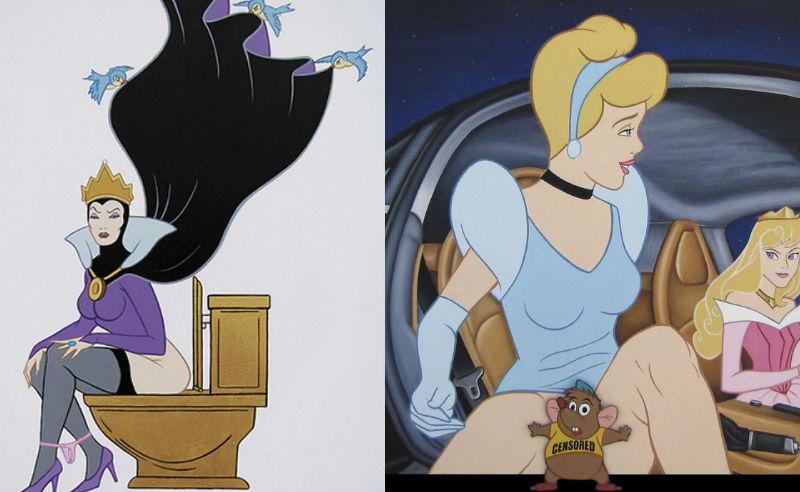 Провокационные иллюстрации персонажей Disney разрушат ваше детство фото