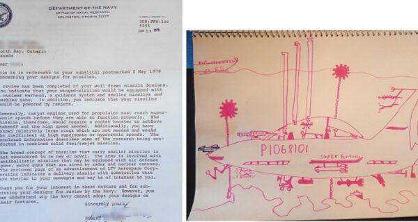 40 лет спустя Пентагон ответил на письмо 11-летнего мальчика, приславшего дизайн крылатой ракеты