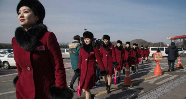 «Армия чирлидерш» из Северной Кореи прибыла на зимние Олимпийские игры
