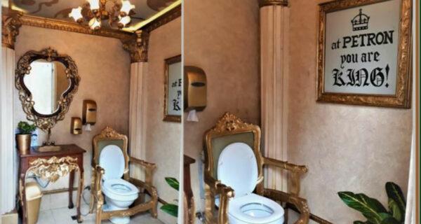 Восседай как король: шикарный туалет на филиппинской заправке