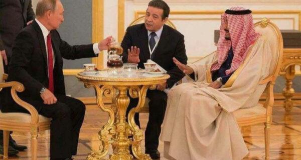 «Выпейте чаю». — «Нет, спасибо». — «Я не спрашивал»: чаепитие Путина с королем Саудовской Аравии превратилось вмем